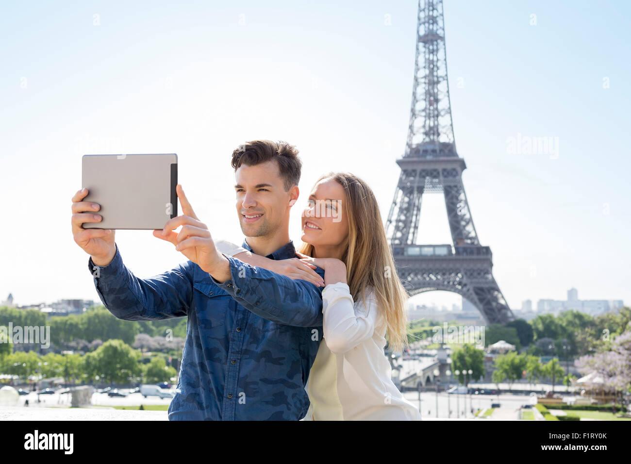 Couple visiting Paris - Stock Image