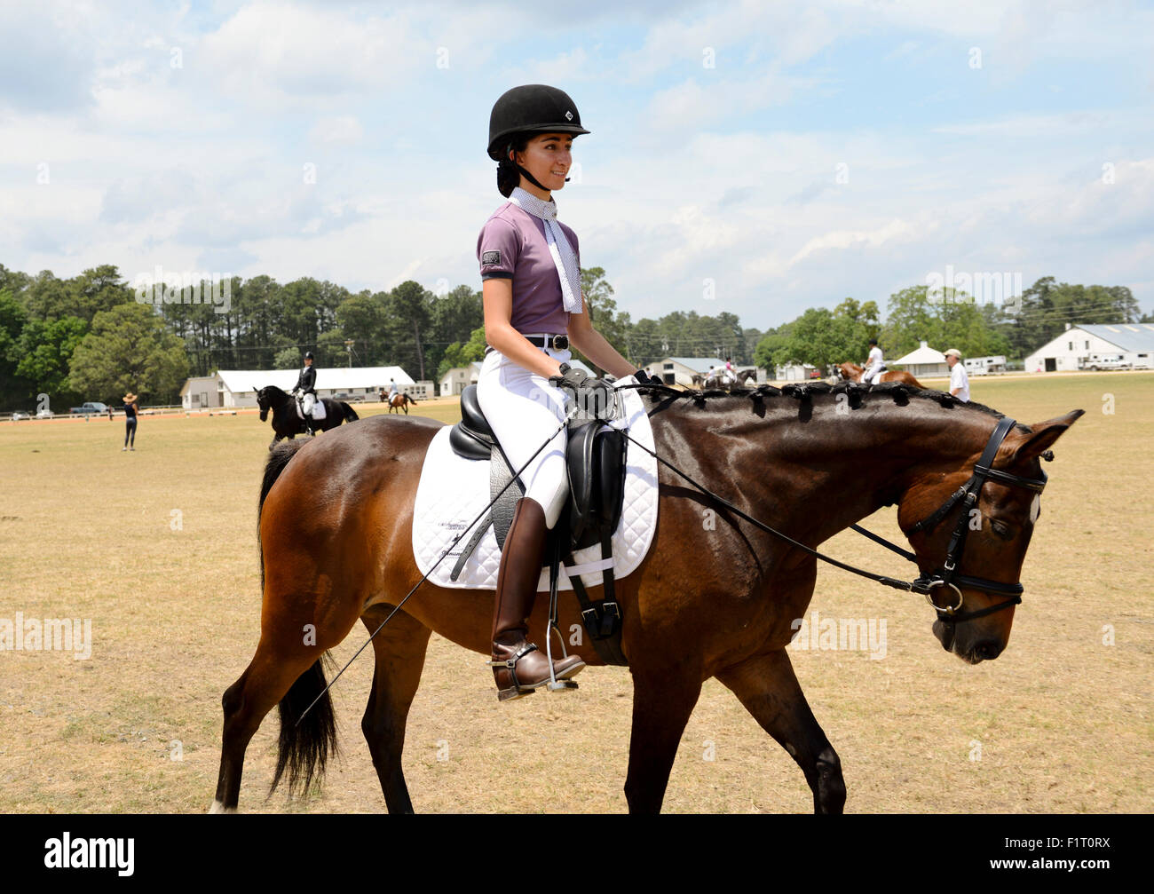 Competitive Dressage Horseback Riding in Pinehurst North