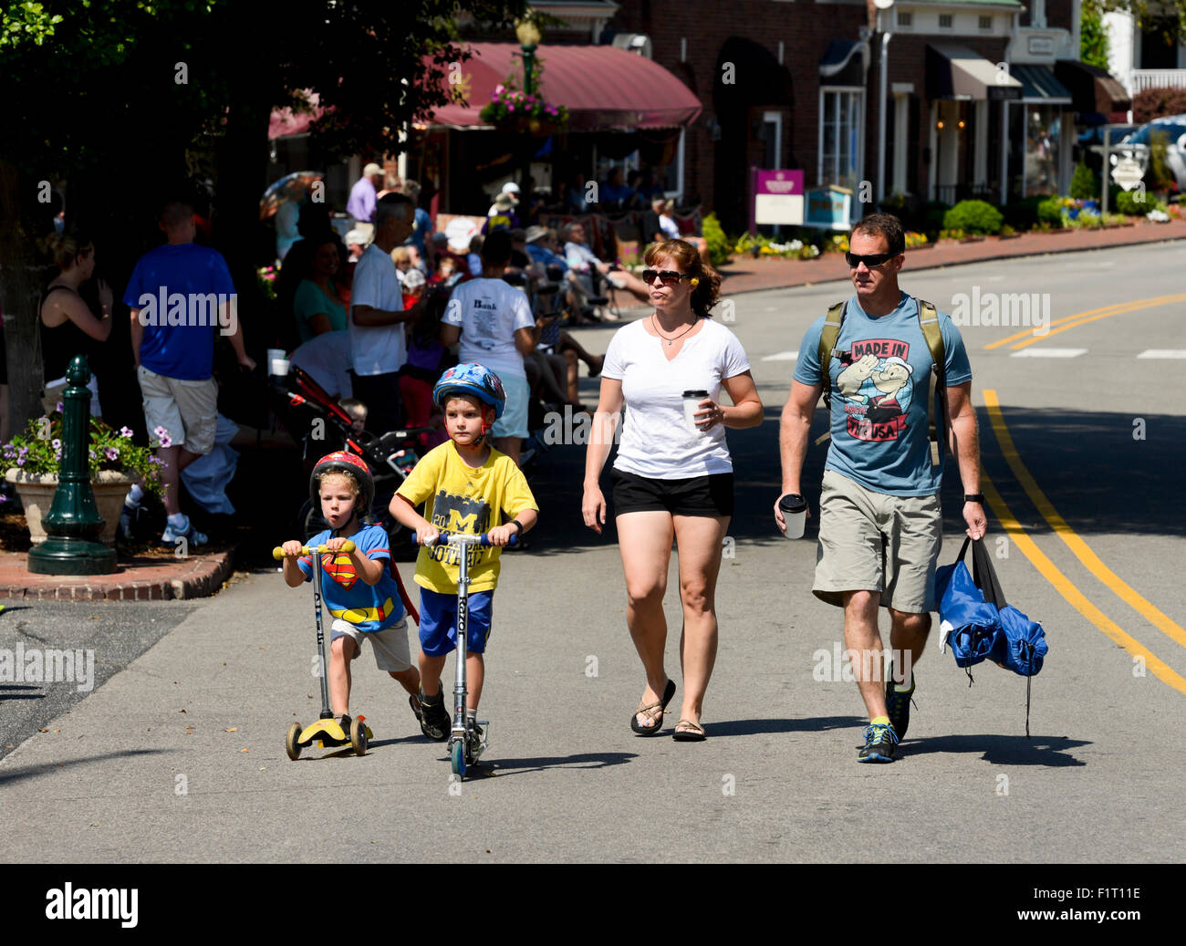 Young Modern Family - Stock Image
