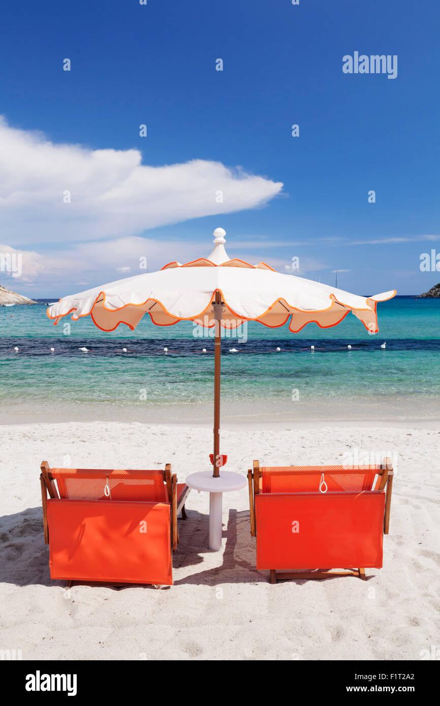 Fetovaia Beach, Island of Elba, Livorno Province, Tuscany, Italy, Europe - Stock Image