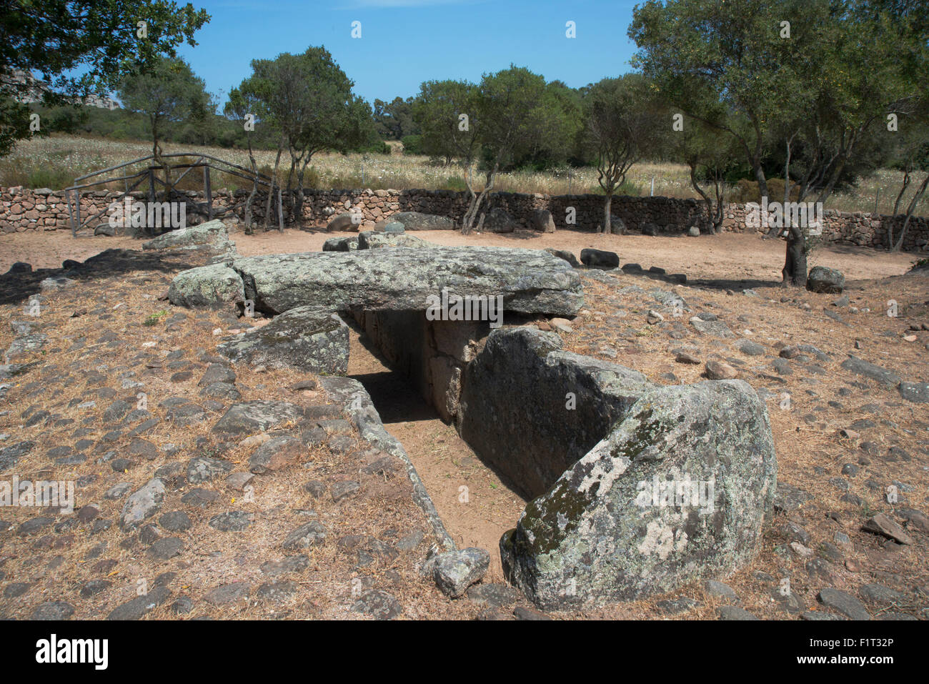 Tomba di Giganti Moru later changed into the Tomb of the Giants, Arzachena, Sardinia, Italy - Stock Image
