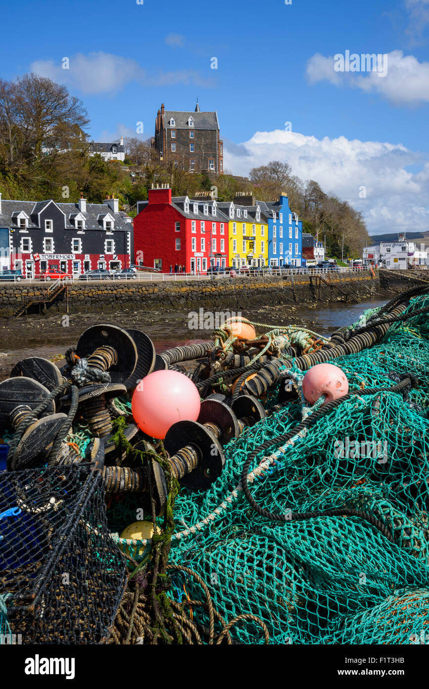 Tobermory harbour, Isle of Mull, Inner Hebrides, Argyll and Bute, Scotland, United Kingdom, Europe - Stock Image