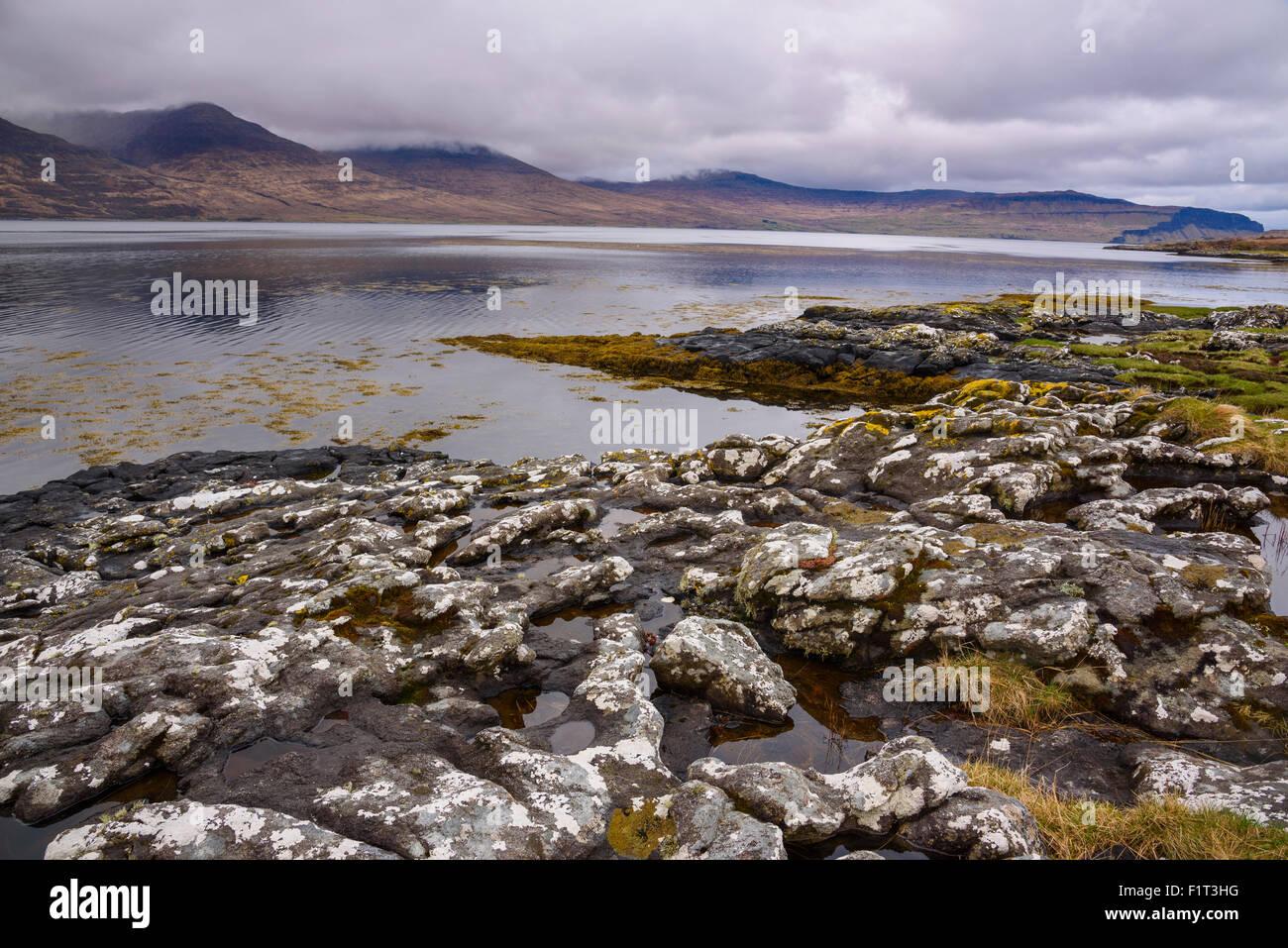 Loch na Keal, near Kellan, Isle of Mull, Inner Hebrides, Argyll and Bute, Scotland, United Kingdom, Europe - Stock Image