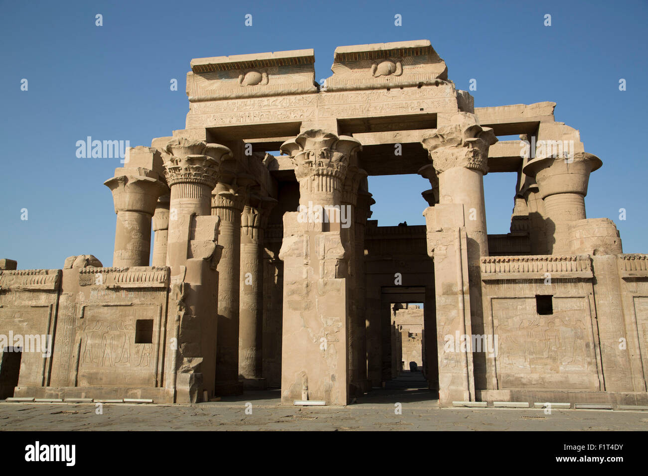 Temple of Haroeris and Sobek, Kom Ombo, Egypt, North Africa, Africa Stock Photo