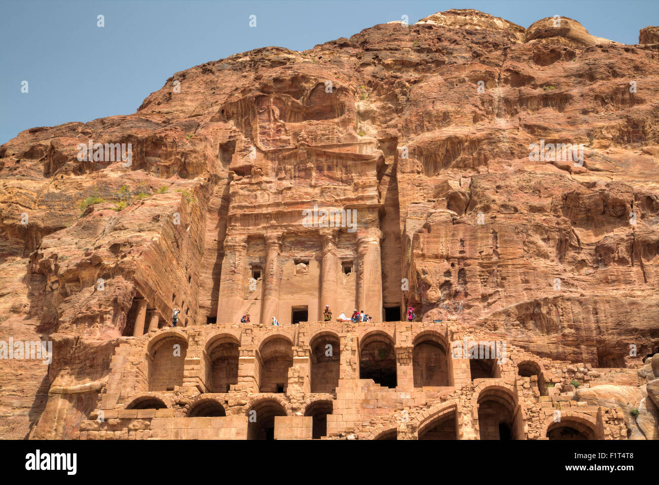 Urn Tomb, Royal Tombs, Petra, UNESCO World Heritage Site, Jordan, Middle East Stock Photo