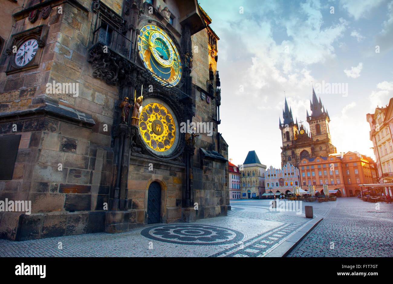 The old Town Square, Prague, Czech Republic - Stock Image