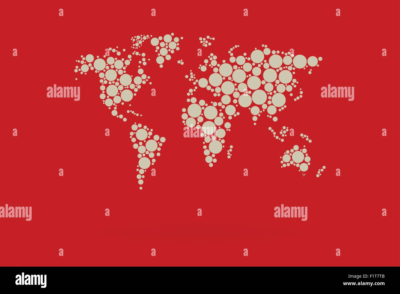 Dotted world map vector with retro contrast colors stock vector art dotted world map vector with retro contrast colors gumiabroncs Gallery