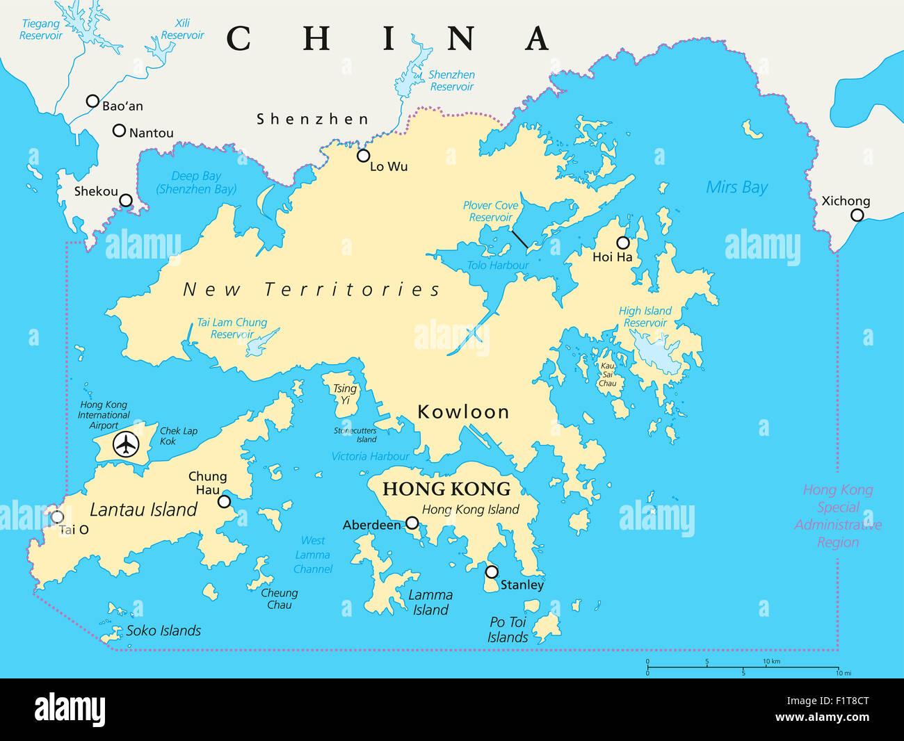 Hong kong china map hong kong china map stock photos hong kong china map stock images gumiabroncs Image collections