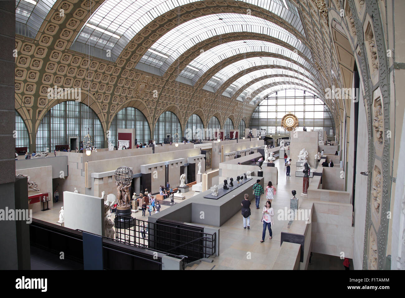 Main Hall of the Musée d'Orsay.Paris.France. - Stock Image