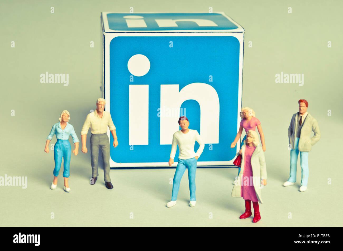 Linkedin social media concept - Stock Image