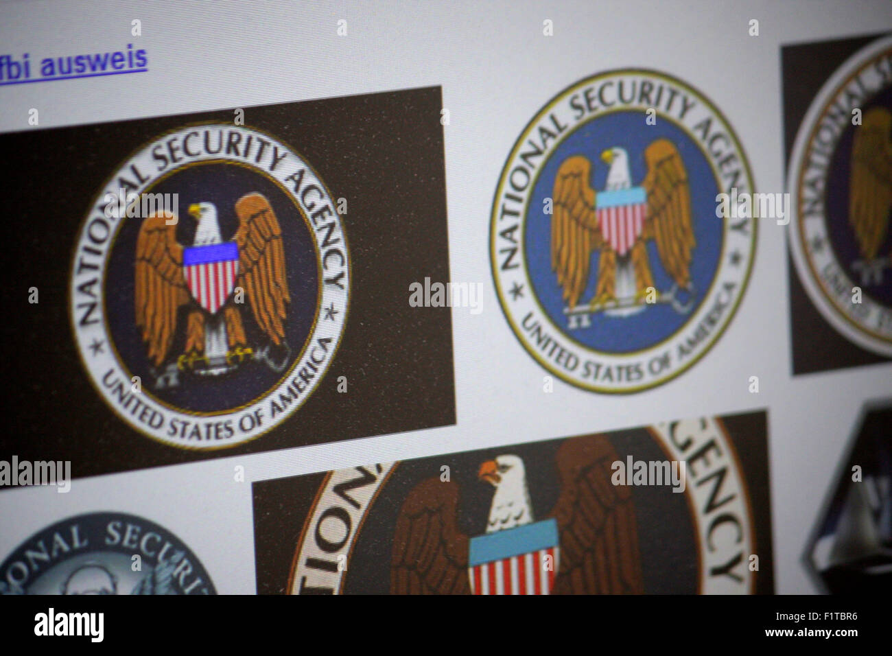 Markenname: 'NSA - National Security Agency', Dezember 2013, Berlin. - Stock Image