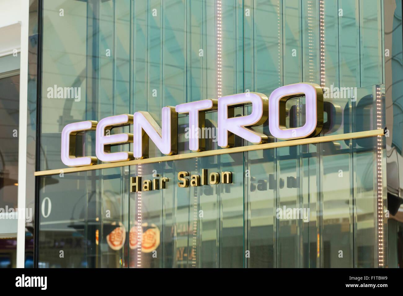Centro hair salon logo - Stock Image