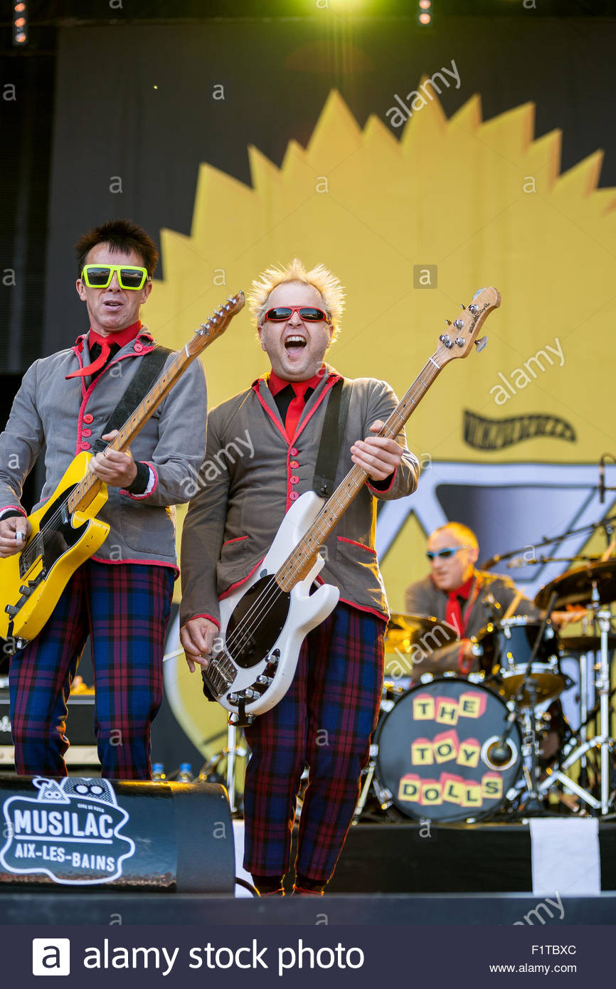 The Toy Dolls performing live Stock Photo