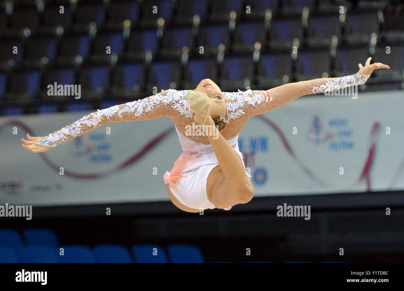 Stuttgart, Germany. 07th Sep, 2015. Nicol Ruprecht of Austria in action during the singles ball qualification of - Stock Image