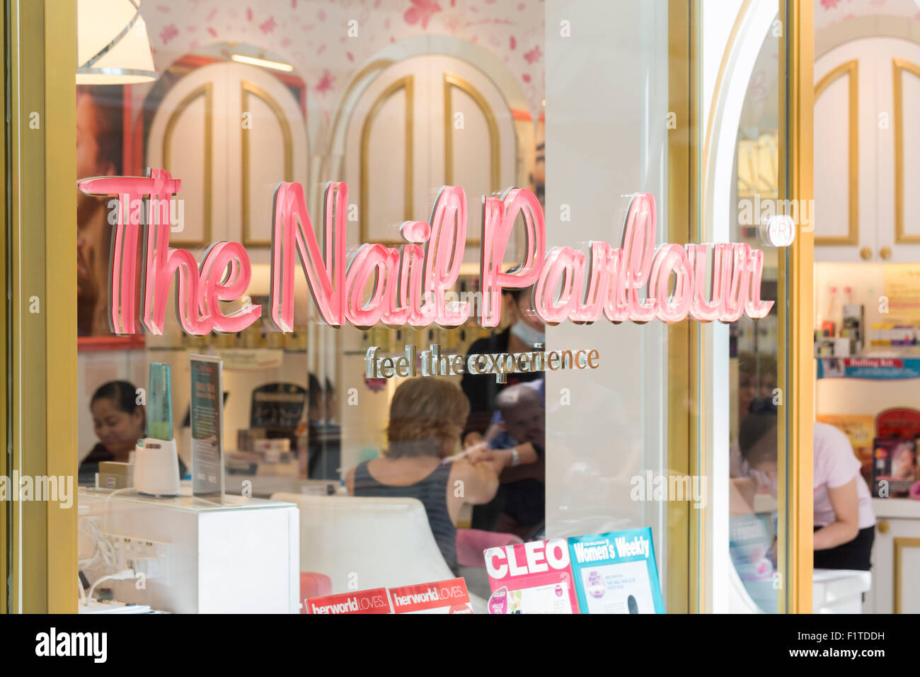 The nail parlour - Stock Image