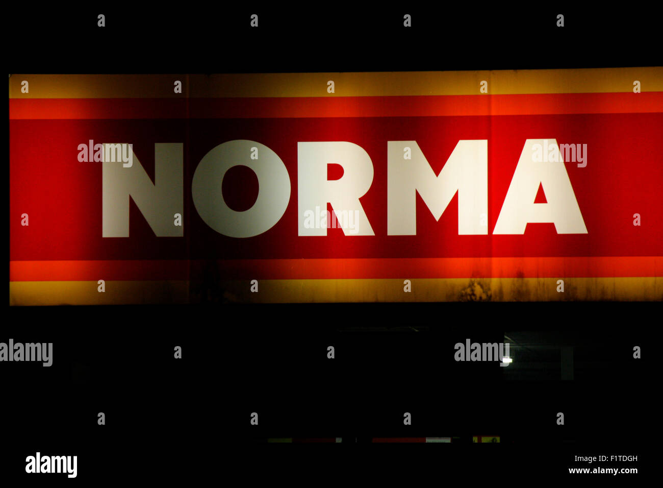 Markenname: 'Norma', November 2013, Berlin. - Stock Image