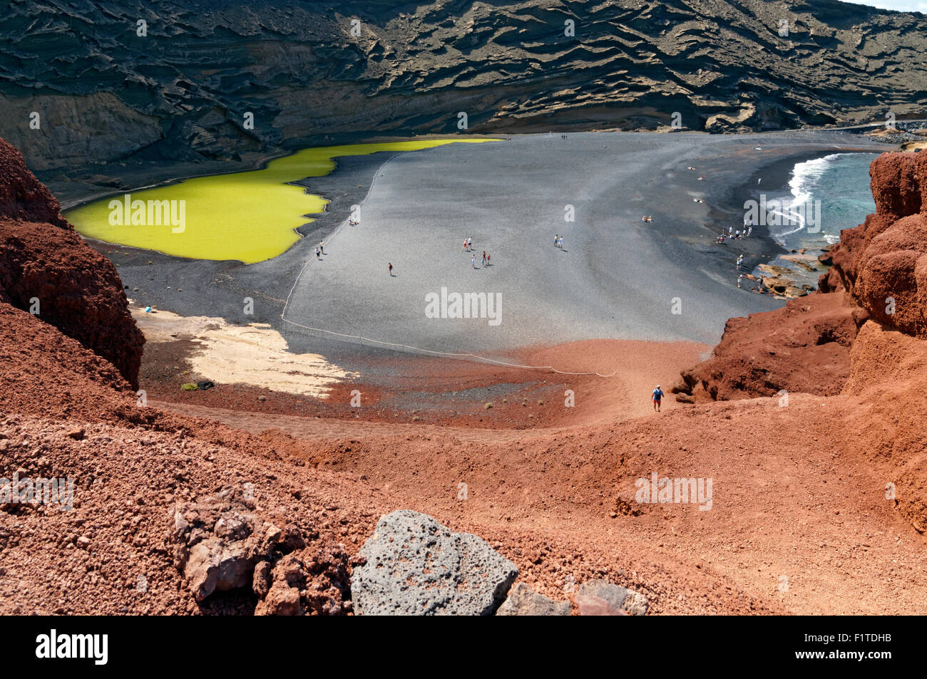 El Golfo, Lanzarote, Canary Islands, Spain. - Stock Image
