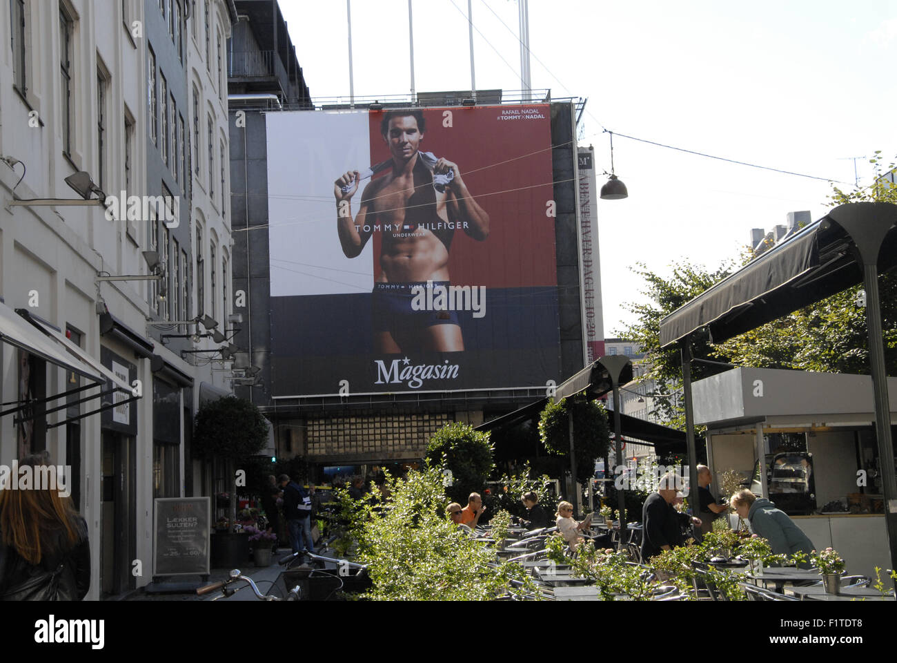 cb1c18ad Copenhagen, Denmark. 07 September, 2015. Billboards promotion of Tommy  Hilfiger hangs at