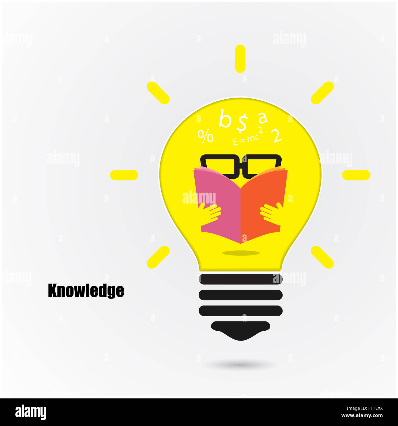 creative light bulb idea concept background design for poster flyer cover brochure education and business idea