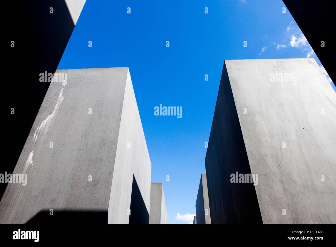 Berlin , Germany. The Memorial to the Murdered Jews of Europe (Denkmal für die ermordeten Juden Europas) - Stock Image