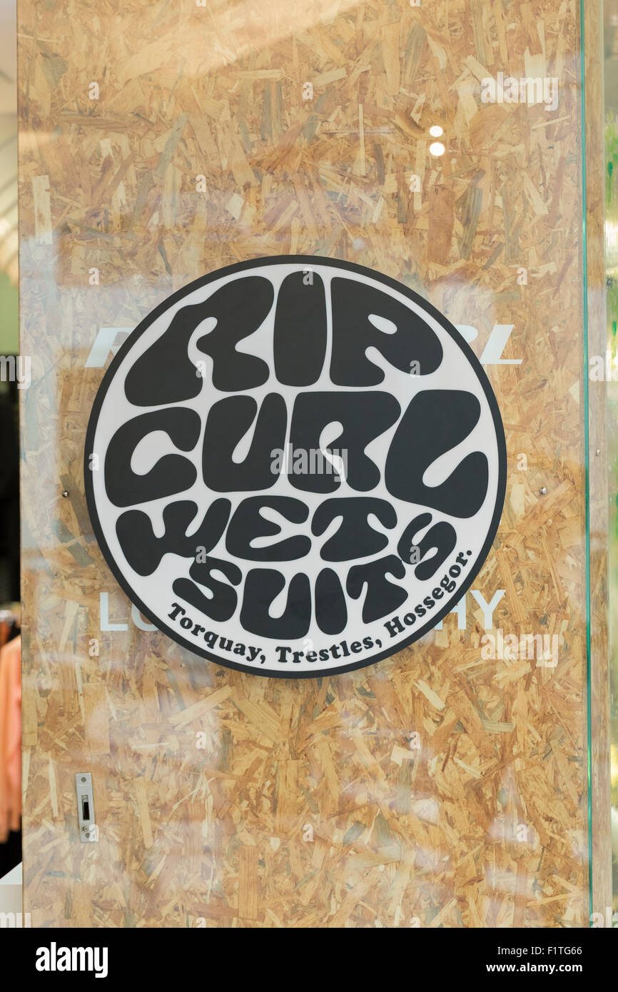 Rip curl wet suits logo - Stock Image