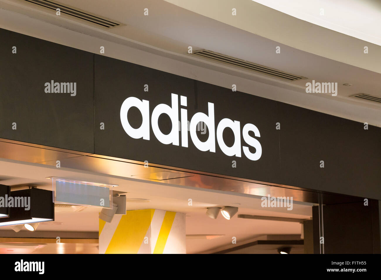 Adidas shop front - Stock Image