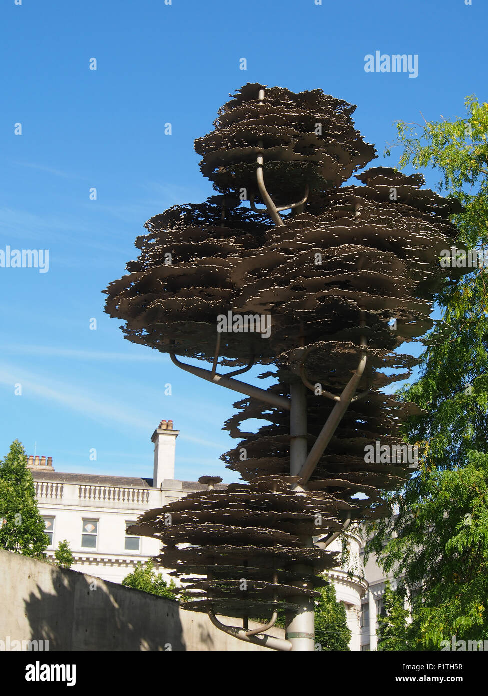 Tree of remembrance in Piccadilly Gardens, Manchester, UK.  Designed by the artists Wolfgang Buttress and Fiona - Stock Image