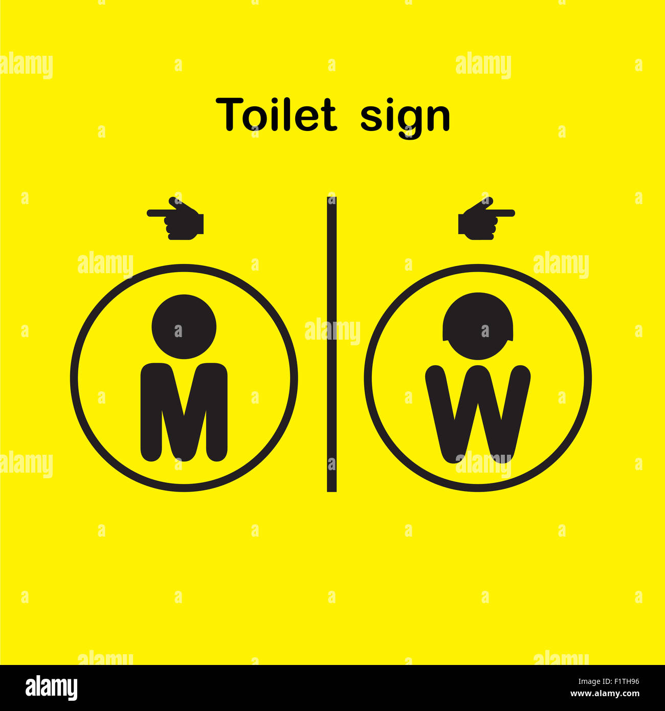 Man And Woman Toilet Sign Restroom Symbol Stock Photo 87206930 Alamy