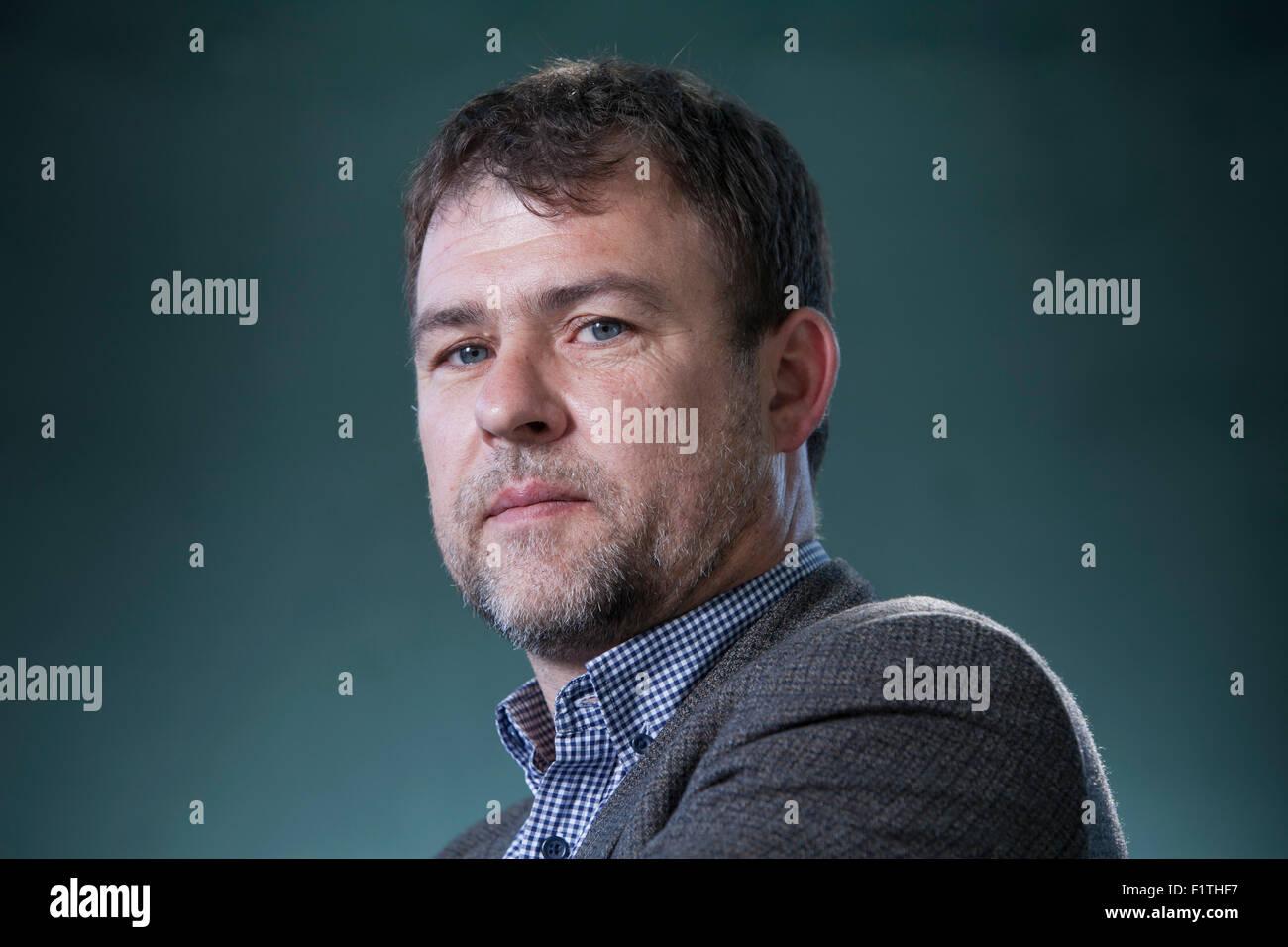 Dan Davies, the journalist and author, at the Edinburgh International Book Festival 2015. Edinburgh, Scotland. 19th - Stock Image