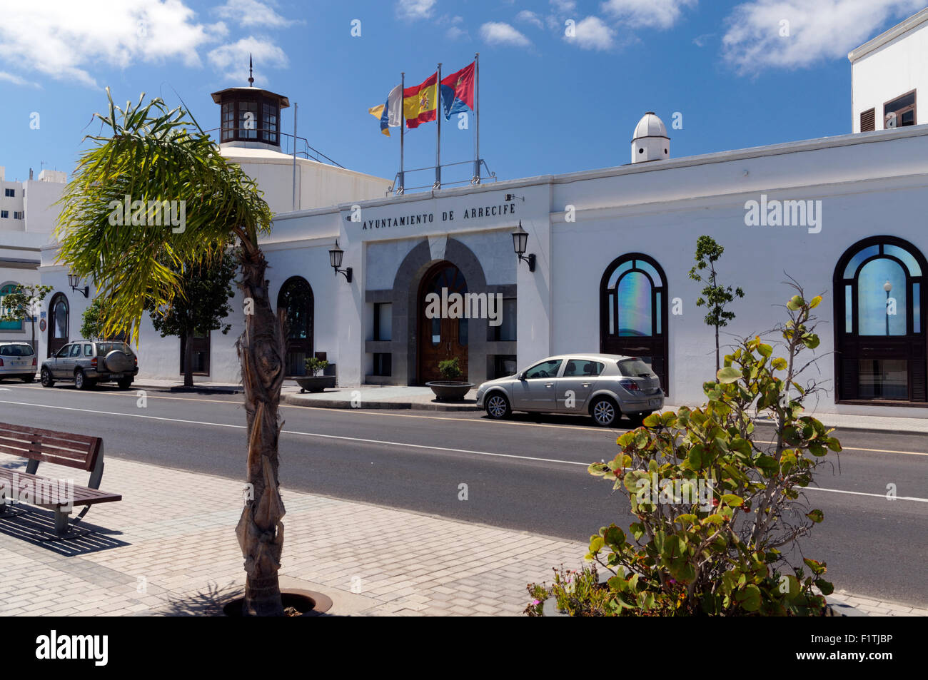 Excmo Ayuntamiento or Town council building Arrecife, Lanzarote, Canary Islands, Spain. - Stock Image