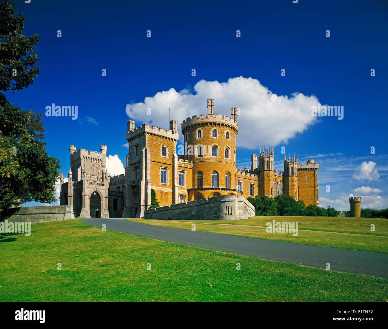 Belvoir Castle in the Vale of Belvoir,Melton Mowbray, Leicestershire England UK - Stock Image