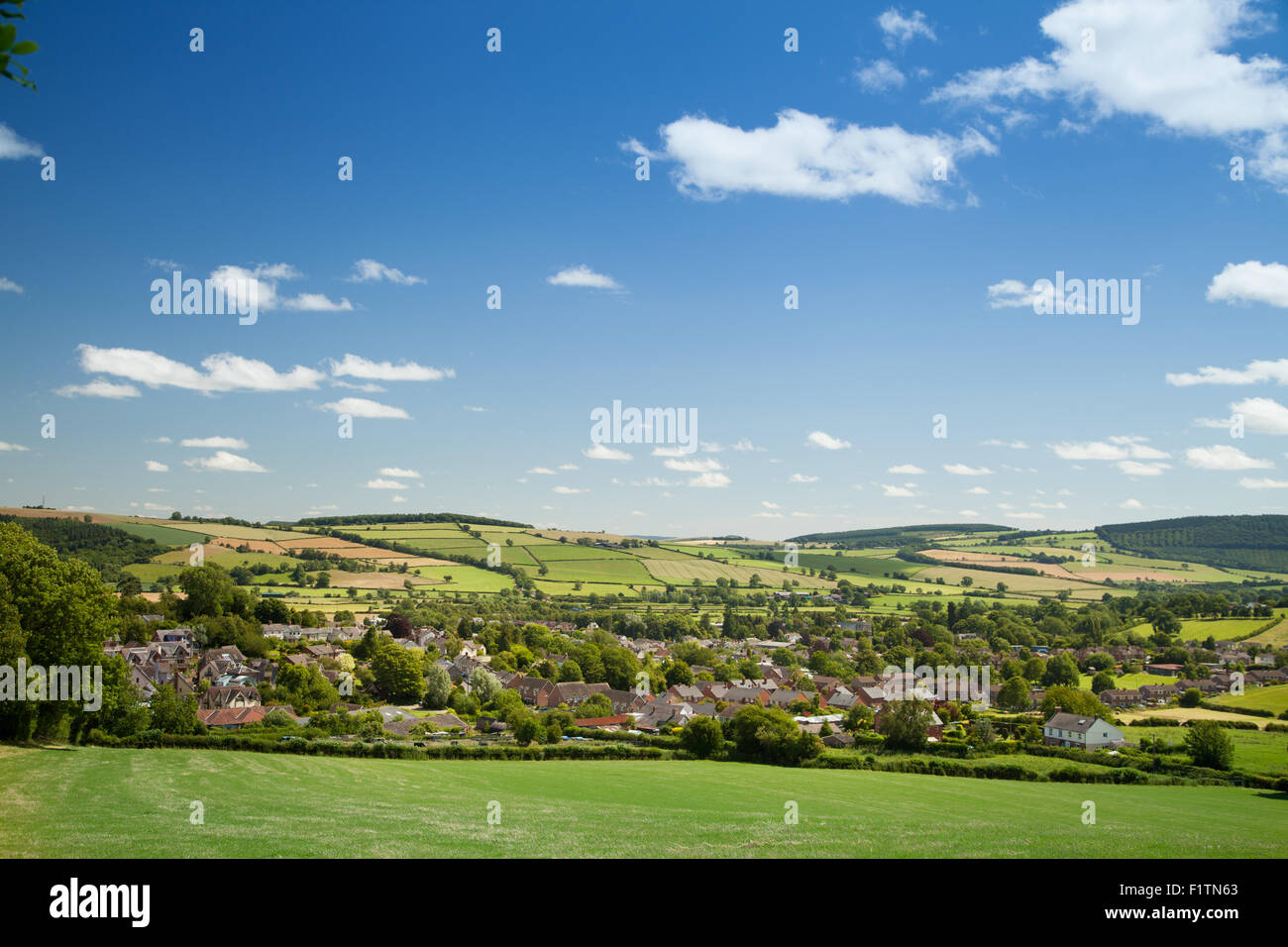 The small market town of Bishop's Castle, Shropshire, England. - Stock Image