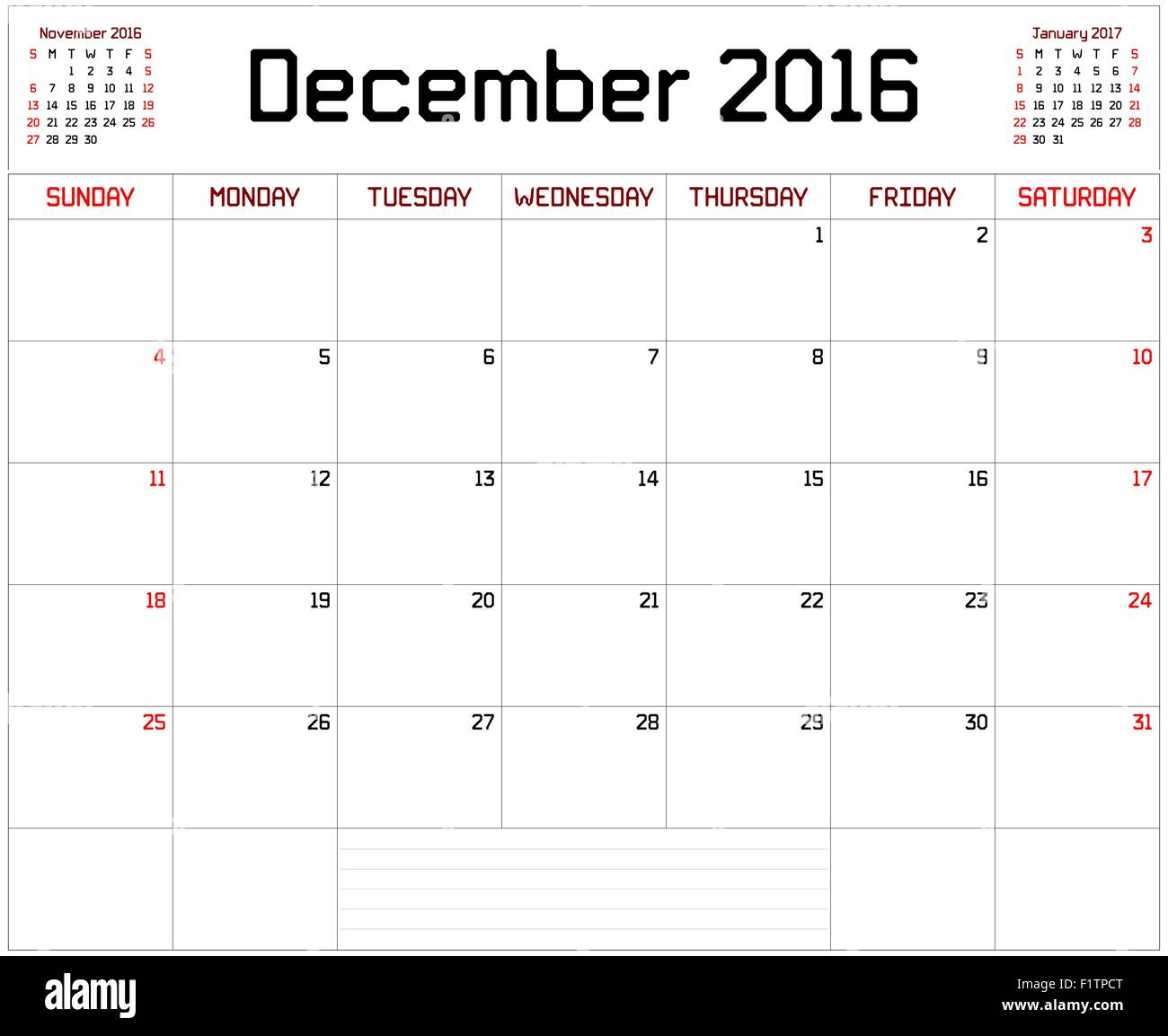 a monthly planner calendar for december 2016 on white a custom