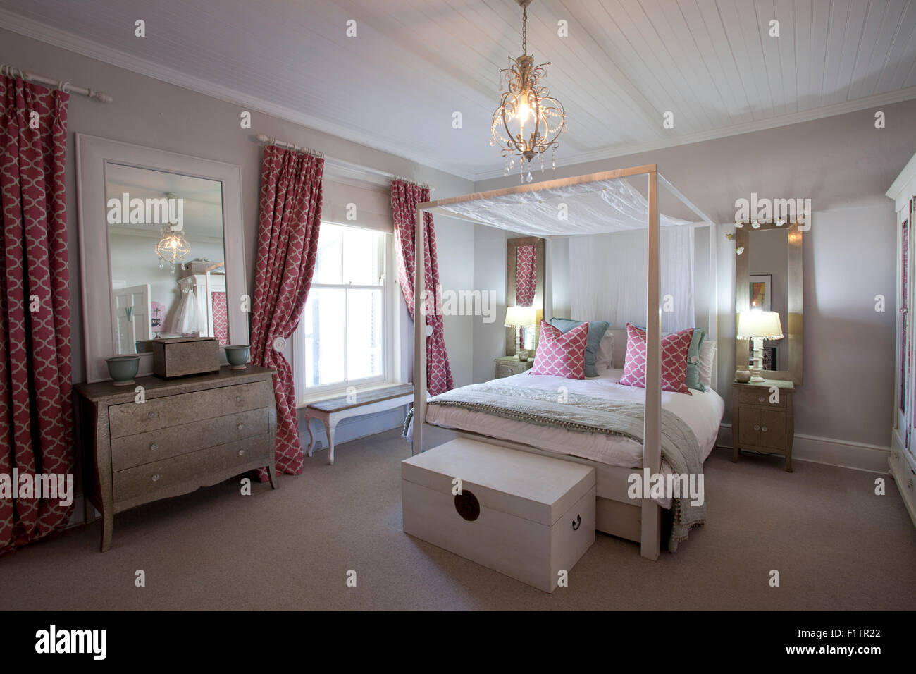 Interior photo of a girls bedroom with beautiful double bed ...