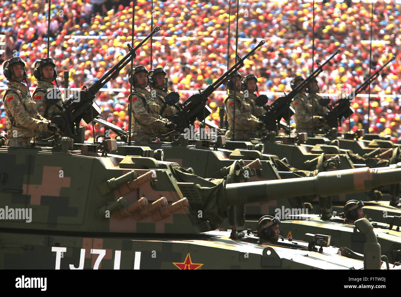Sept. 3, 2015 - Beijing, CHINA - Over 12,000 soldiers and hundreds of tanks, ballistic missile launchers, amphibious - Stock Image