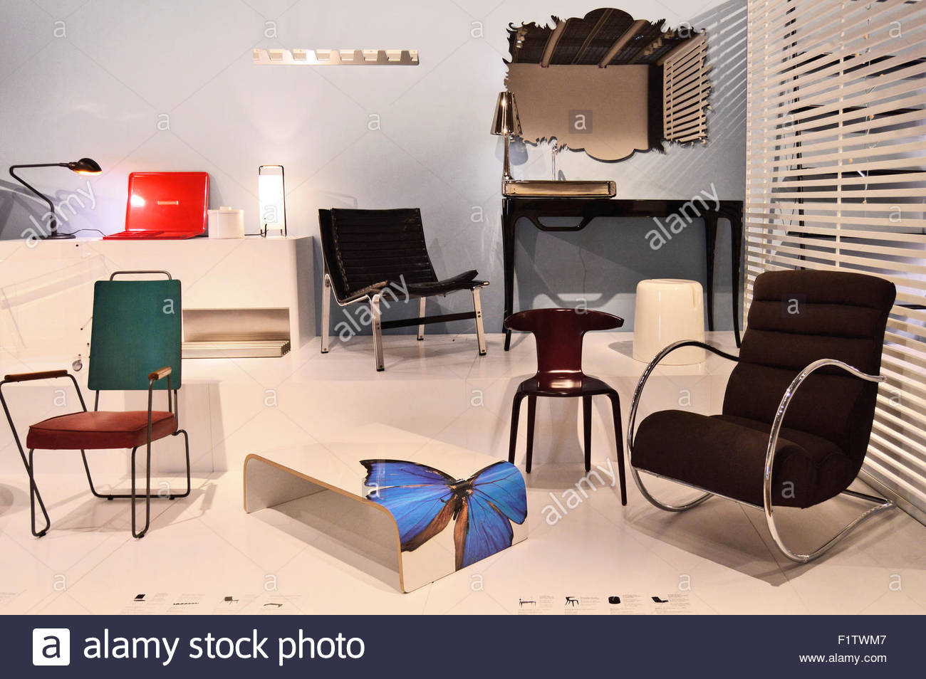 Modern products displayed at Museu Del Disseny (Design Museum) of Barcelona, Catalonia Spain Europe Stock Photo
