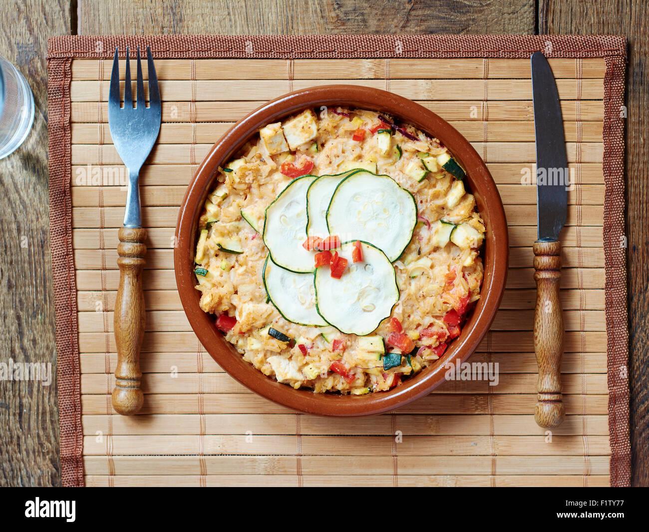 Vegan Zucchini Rice CasseroleStock Photo
