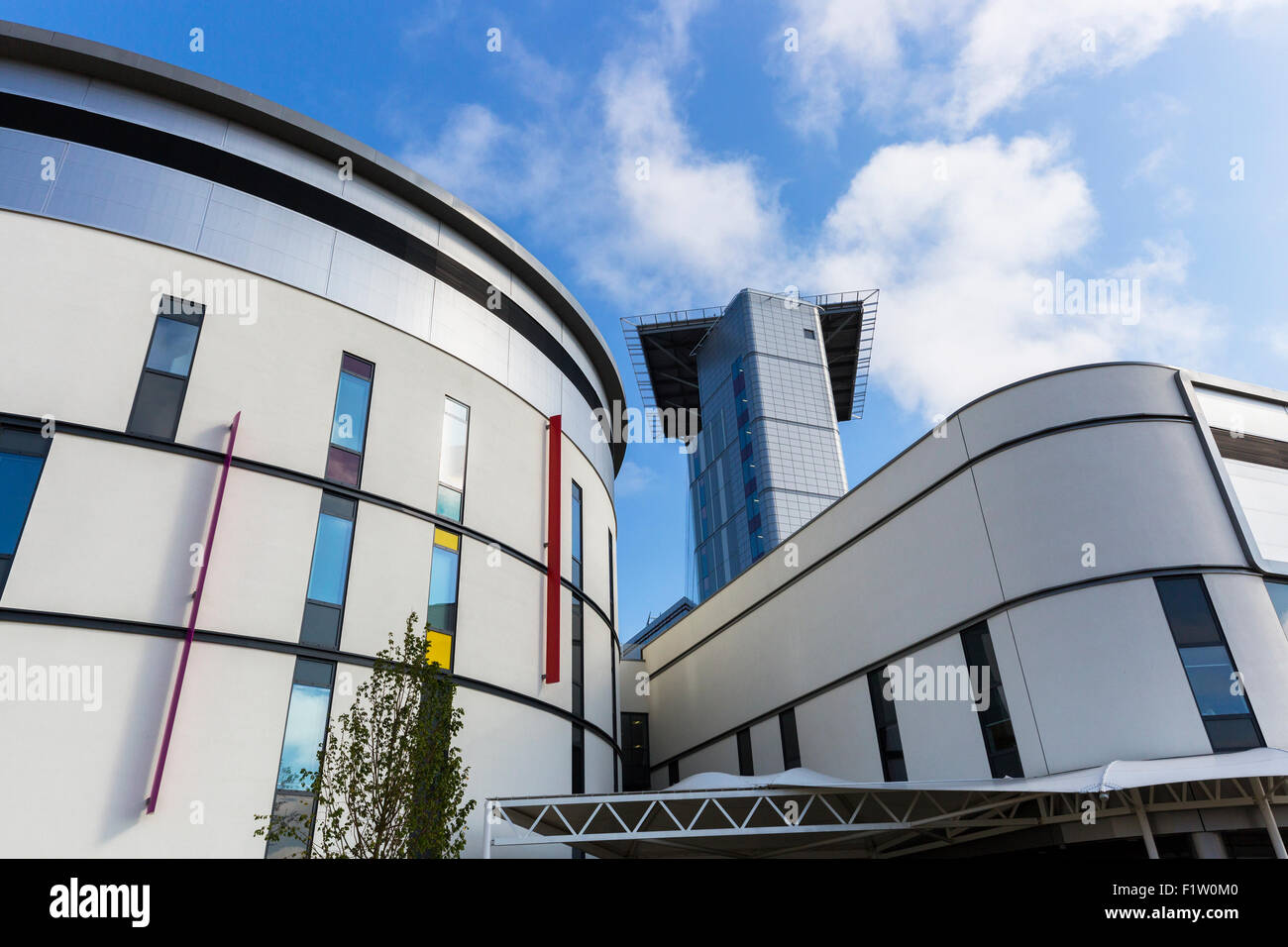 Helicopter landing pad of the South Glasgow University Hospital, Govan, Glasgow, Scotland. The hospital was previously - Stock Image