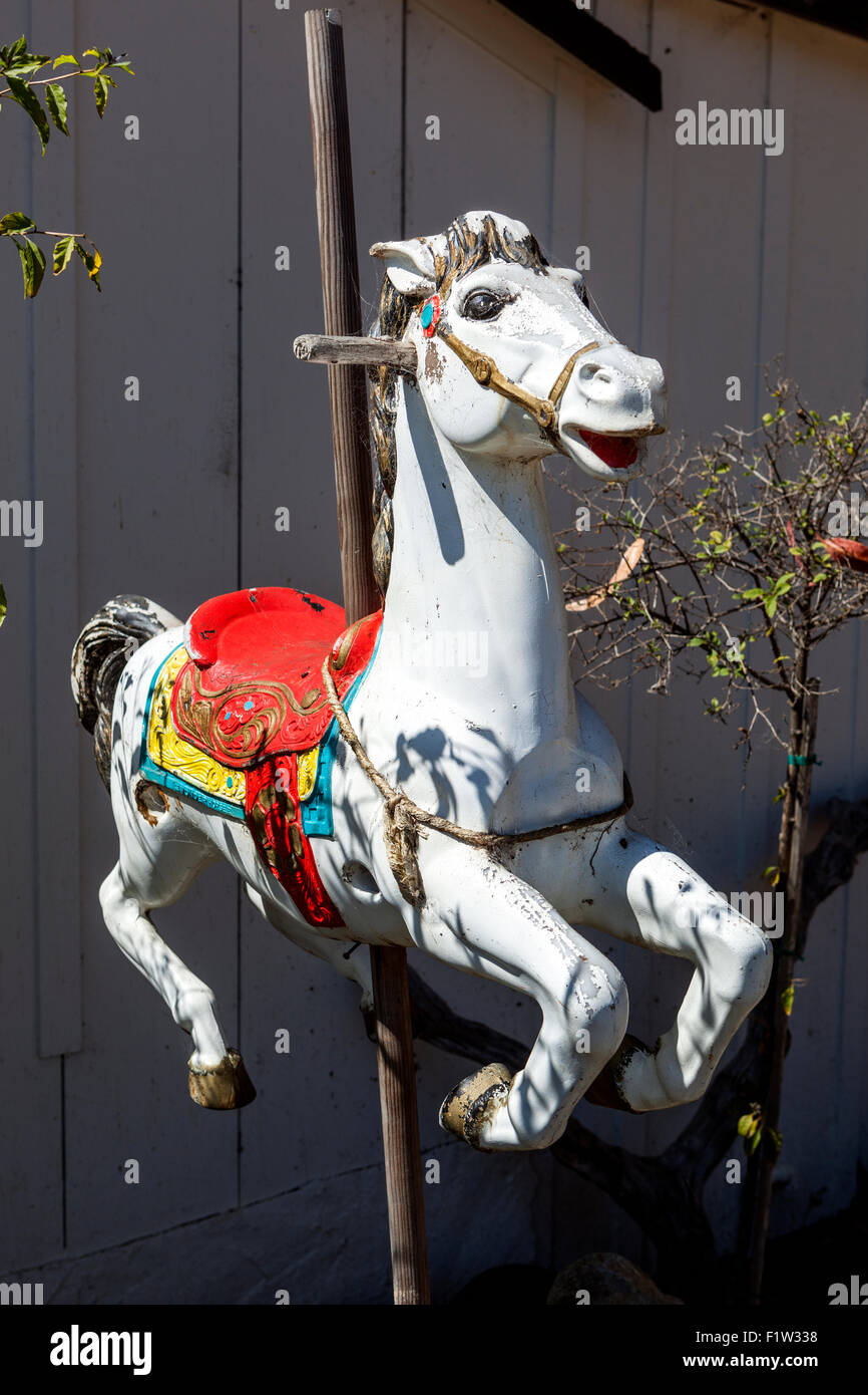 Carousel Horse Now Abandoned Dreams Of The Carnival Stock Photo Alamy
