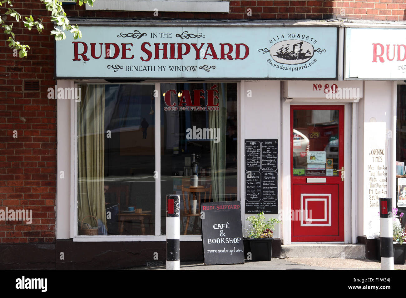 Rude Shipyard Cafe and Bookshop in Sheffield - Stock Image