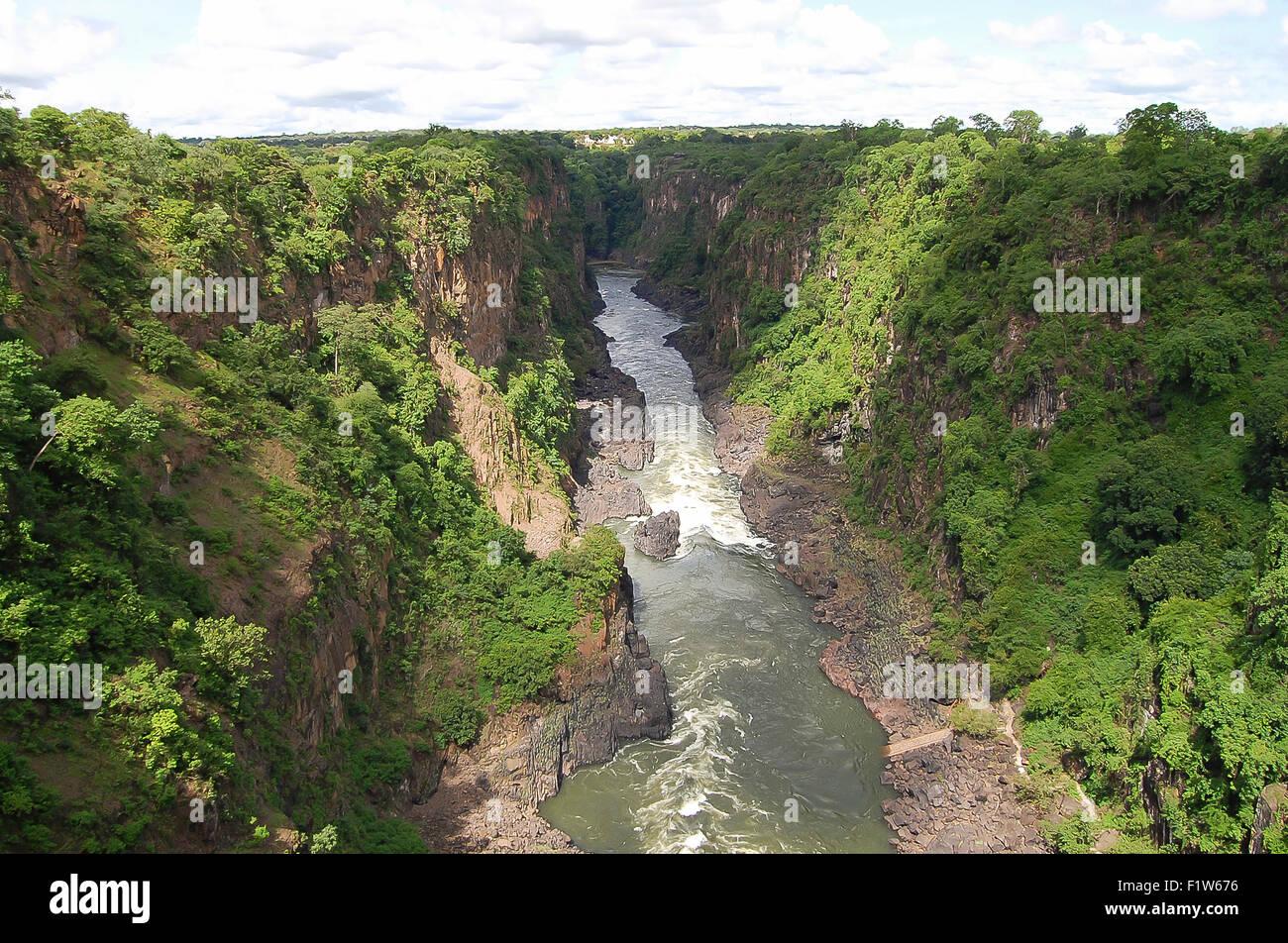 Zambezi River - Zambia/Zimbabwe - Stock Image