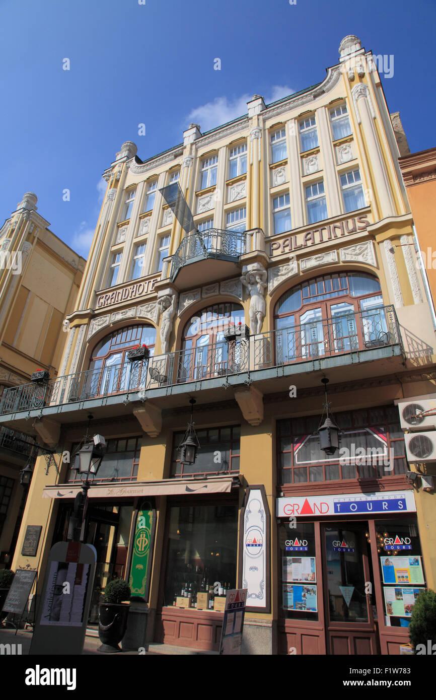 Hungary Pécs Grand Hotel Palatinus tourism - Stock Image