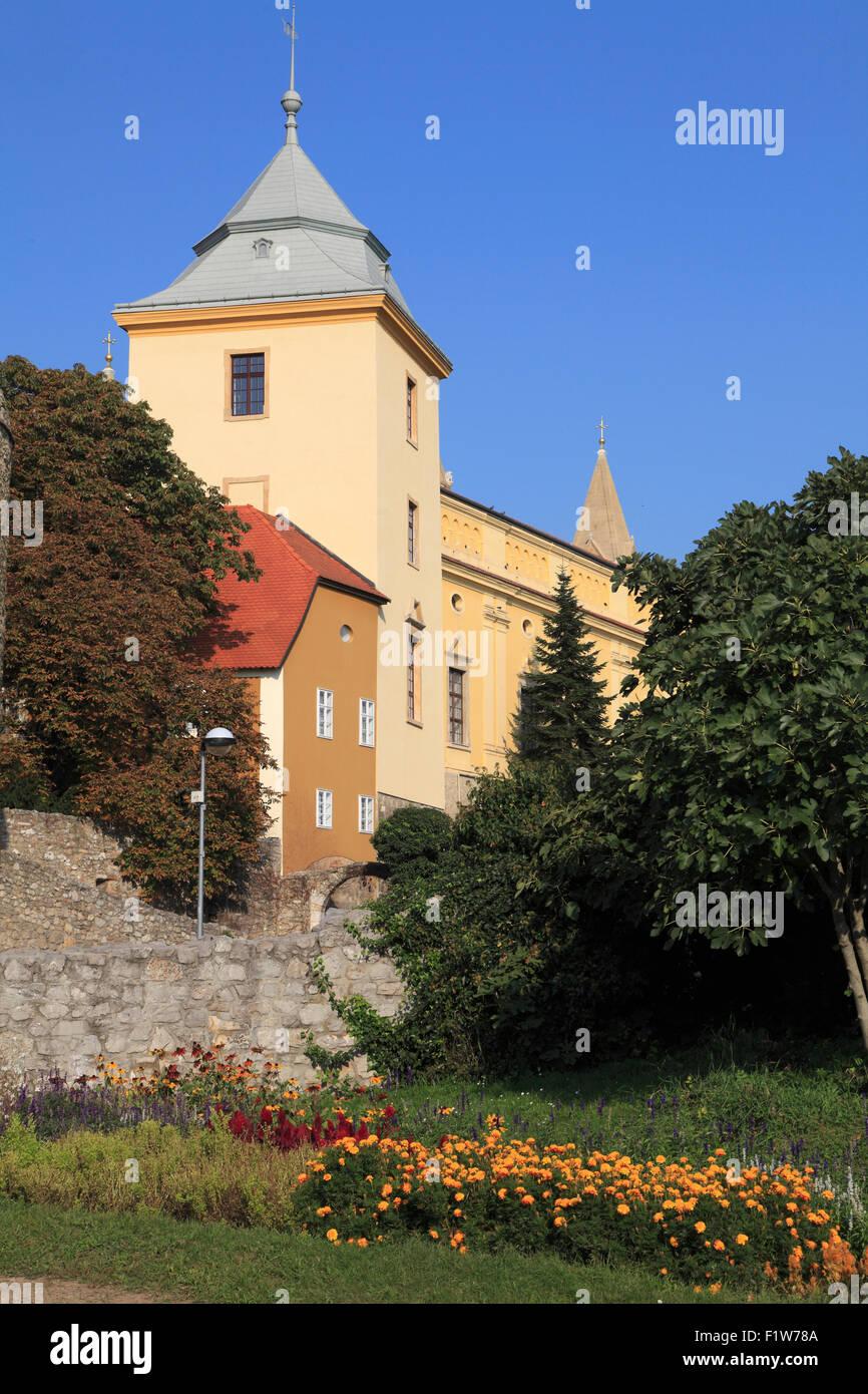 Hungary Pécs Bishop's Palace City Wall - Stock Image