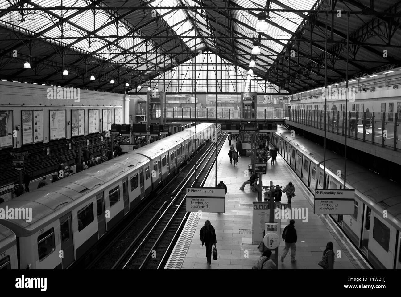 Earls Court tube station / London underground station Stock Photo