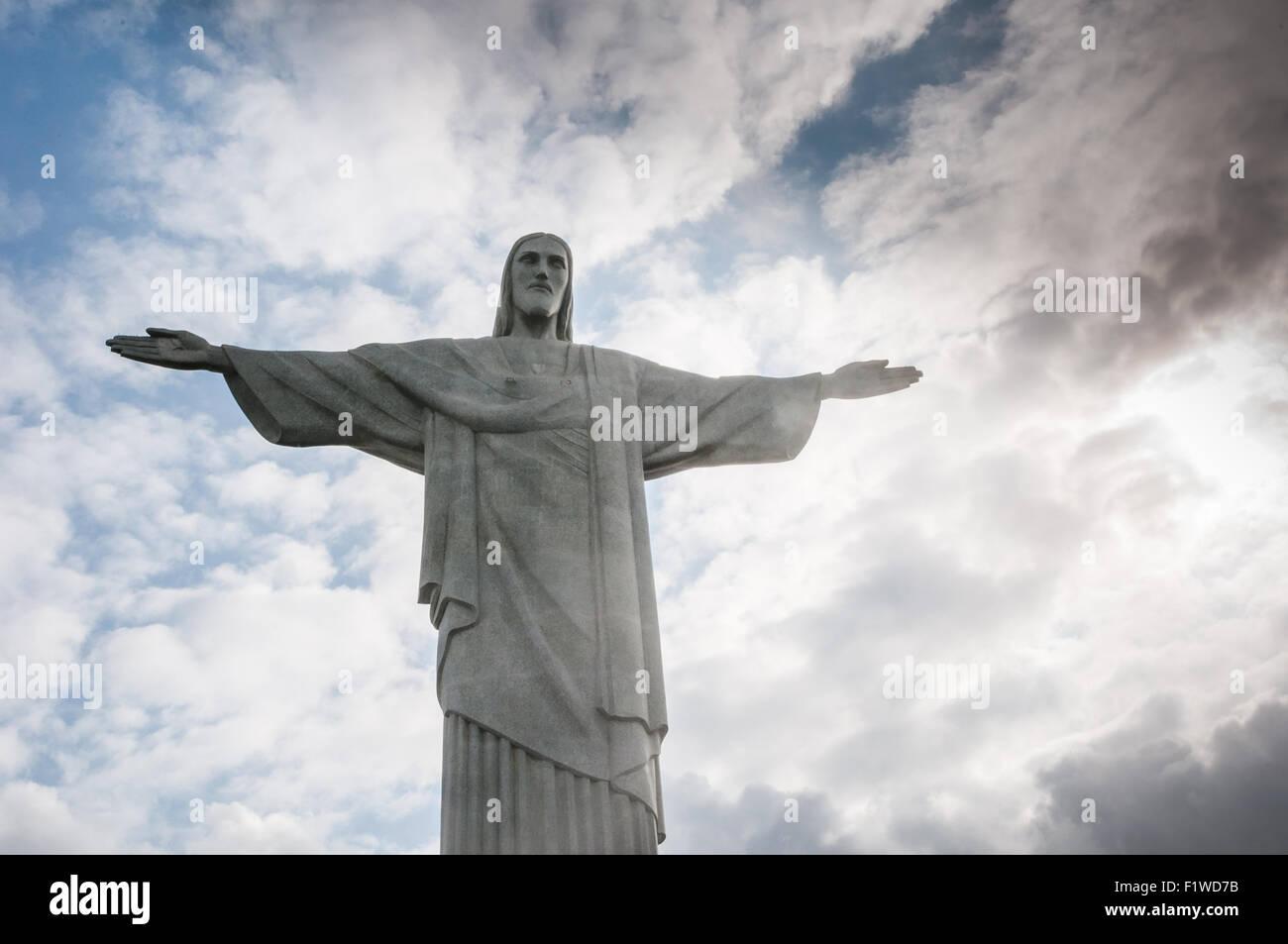 Corcovado Hill in Rio de Janeiro, Brazil - Stock Image