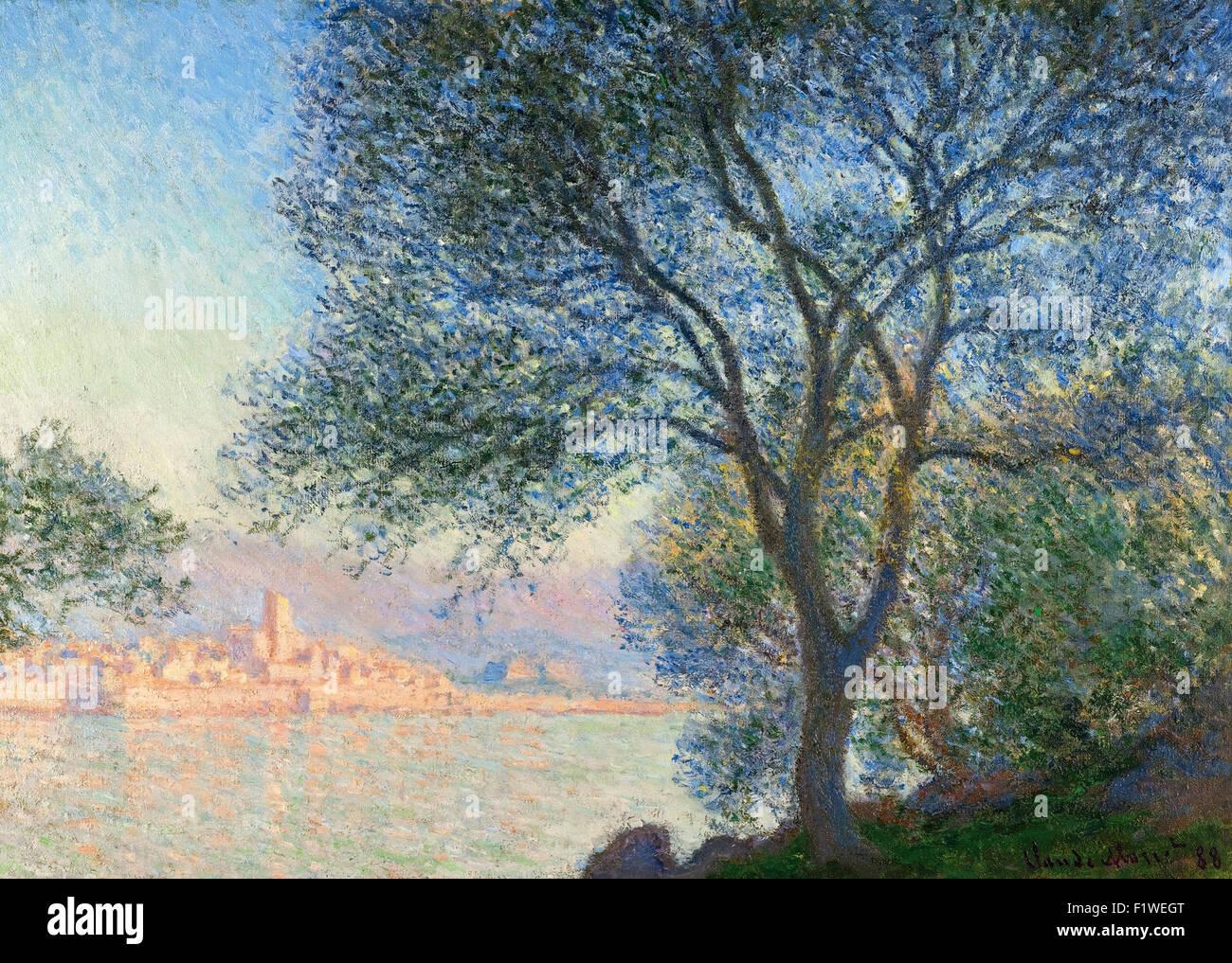 Claude Monet - Antibes vue de la Salis - Stock Image