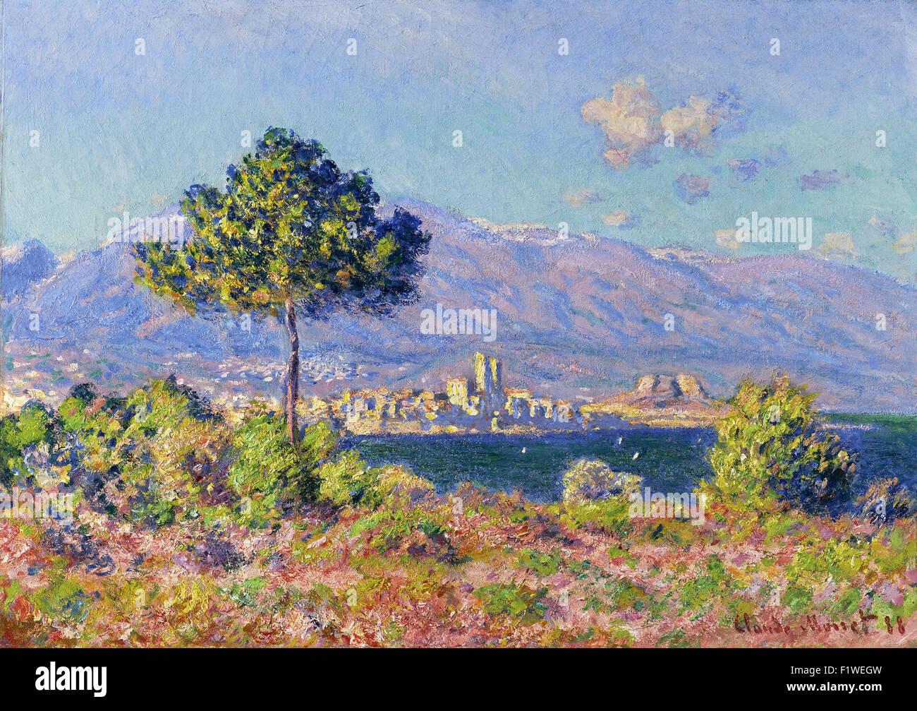 Claude Monet - Antibes, Vue du Plateau Notre Dame - Stock Image