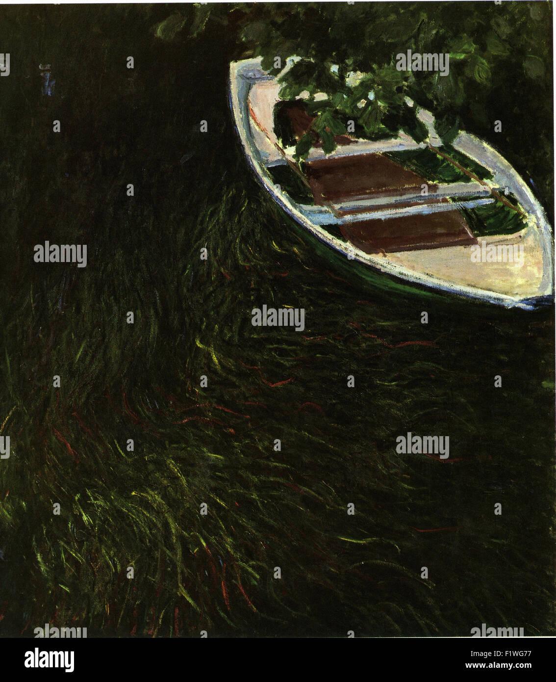 Claude Monet - La Barque - Stock Image