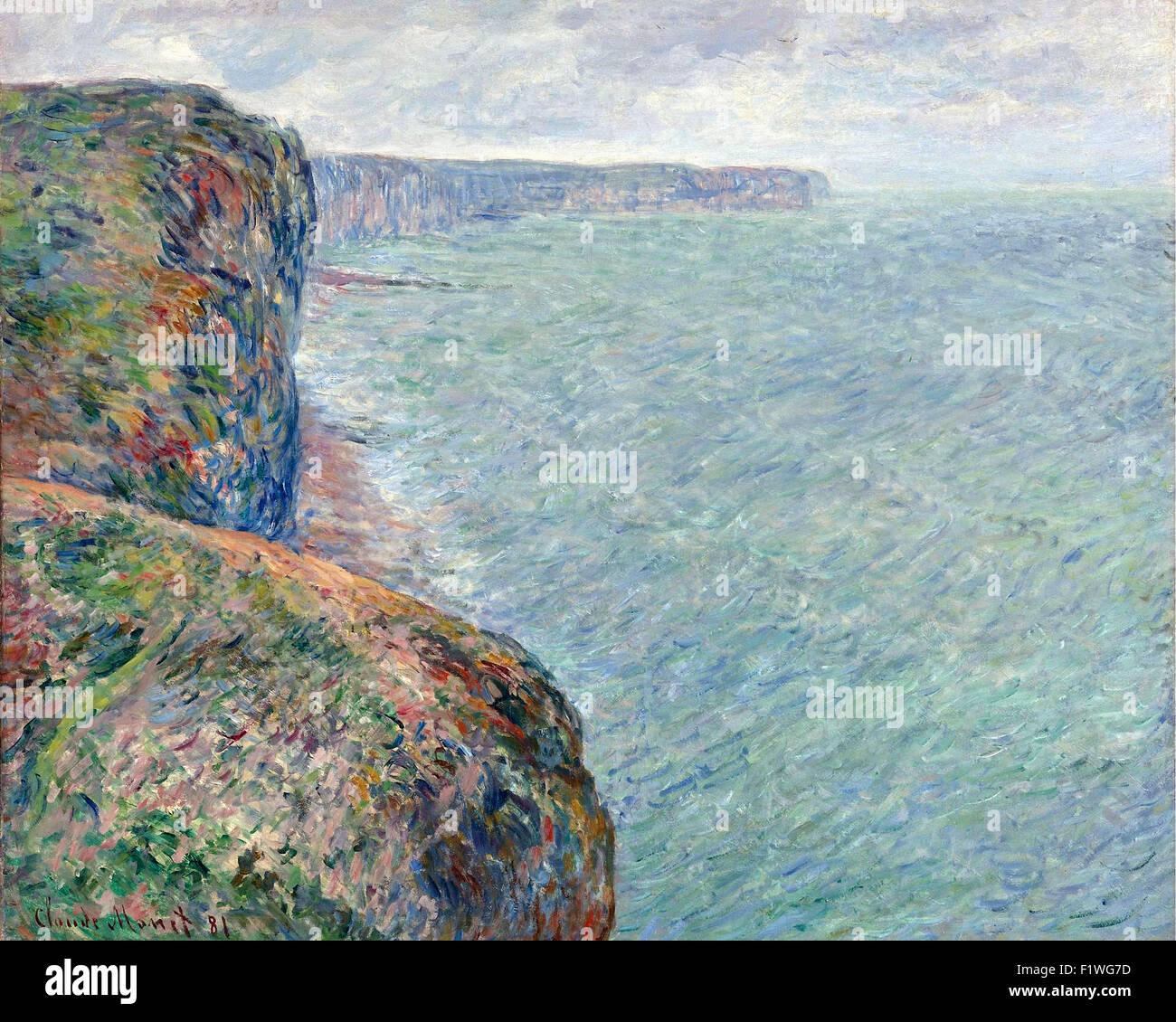 Claude Monet - La Mer vue des falaises - Stock Image