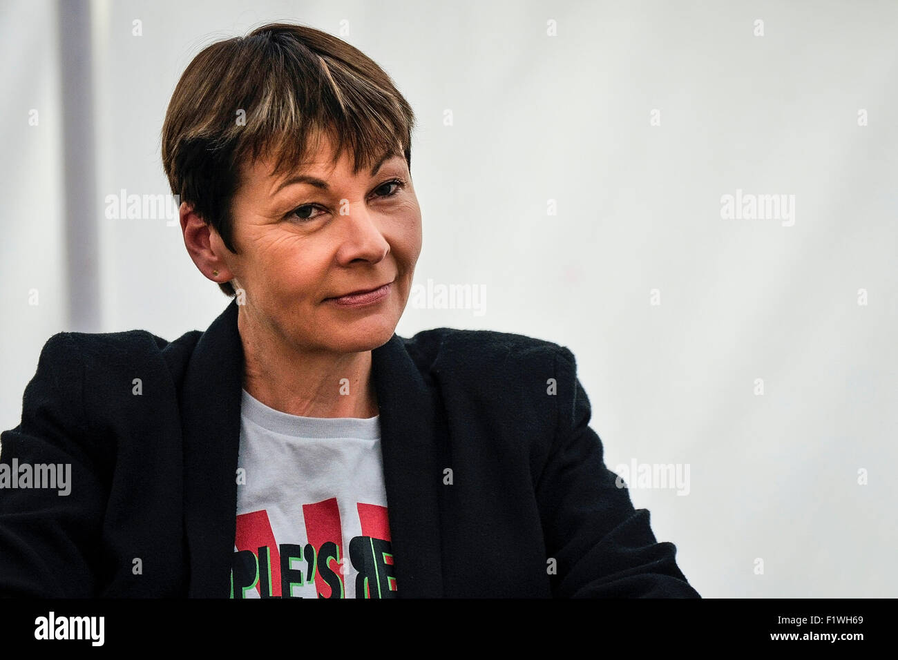 Caroline Lucas, Member of Parliament for Brighton Pavilion. - Stock Image